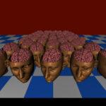 SIGGRAPH 1992: Menschlicher Kopf vervielfacht